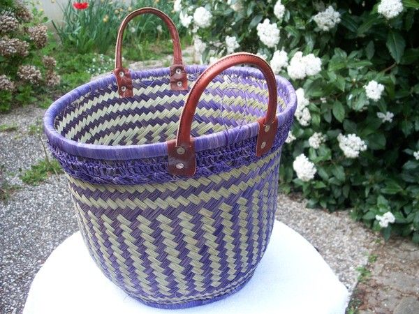 Panier rafia for Association miroir fes